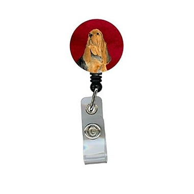Carolines Treasures Bloodhound Retractable Badge Reel or ID Holder with Clip (CRlT24341)