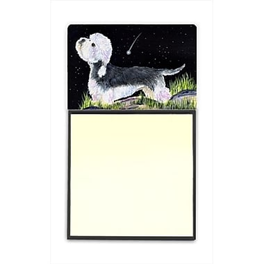 Carolines Treasures Starry Night Dandie Dinmont Terrier Refiillable Sticky Note Holder or Postit Note Dispenser (CRlT60482)