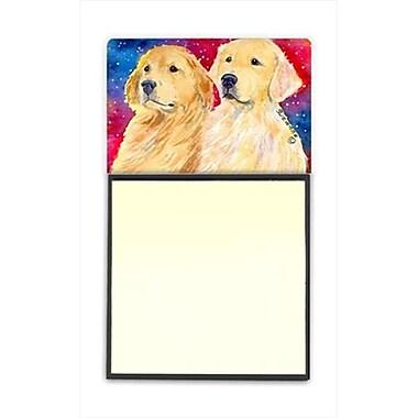 Carolines Treasures Golden Retriever Refiillable Sticky Note Holder or Postit Note Dispenser (CRlT60552)