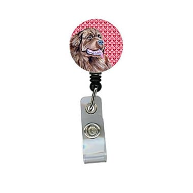 Carolines Treasures Newfoundland ValentineS love And Hearts Retractable Badge Reel Or Id Holder With Clip (CRlT27995)
