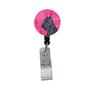 Carolines Treasures Schnauzer Retractable Badge Reel Or Id Holder With Clip (CRlT28127)