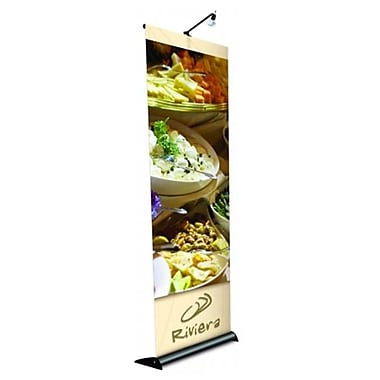 Testrite Visual Products Mercury Retractable Banner Stands 60 in. - 1 Sided Mercury Stand- Black (TTVSP211)
