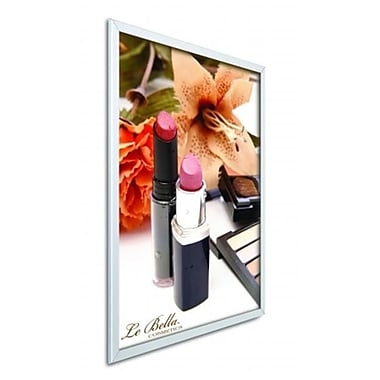 Testrite Visual Products Easy-Open SnapFrames 22 in. x 28 in.Easy Open Snap Frame-Silver (TTVSP165)