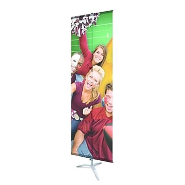 Testrite Visual Products Promo Banner Stands 24 in. Single Hook-loop Promo Stand-Black (TTVSP158)