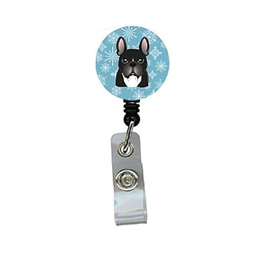 Carolines Treasures Snowflake French Bulldog Retractable Badge Reel (CRlT84418)