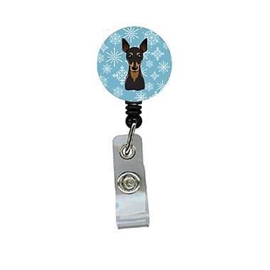 Carolines Treasures Snowflake Min Pin Retractable Badge Reel (CRlT84327)