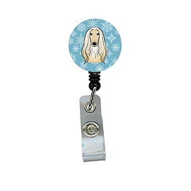 Carolines Treasures Snowflake Afghan Hound Retractable Badge Reel (CRlT84299)
