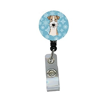 Carolines Treasures Snowflake Wire Haired Fox Terrier Retractable Badge Reel (CRlT84278)