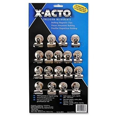 Elmer'S Products, Inc. Bulldog Magnetic Clips, Steel, 1-1/4''w, Nickel-Plated, 18/Box (AZERTY18944)