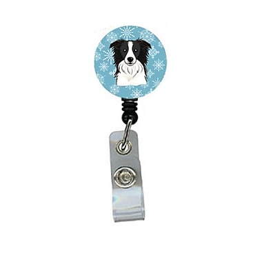 Carolines Treasures Snowflake Border Collie Retractable Badge Reel (CRlT84320)
