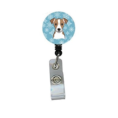 Carolines Treasures Snowflake Jack Russell Terrier Retractable Badge Reel (CRlT84191)
