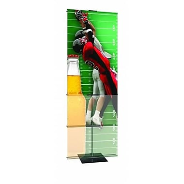 Testrite Visual Products Promo Banner Stands 24 in. Double Promo Stand-Black (TTVSP157)