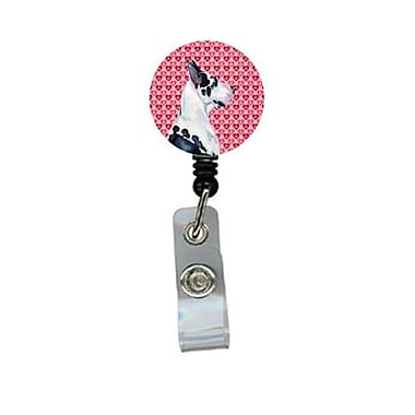 Carolines Treasures Great Dane Valentines love and Hearts Retractable Badge Reel or ID Holder with Clip (CRlT28586)