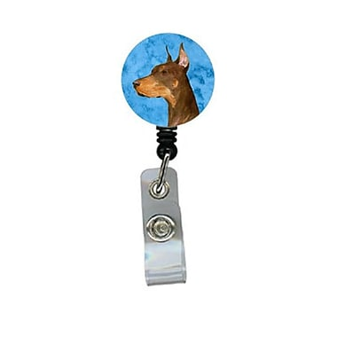 Carolines Treasures Doberman Retractable Badge Reel Or Id Holder With Clip (CRlT27607)