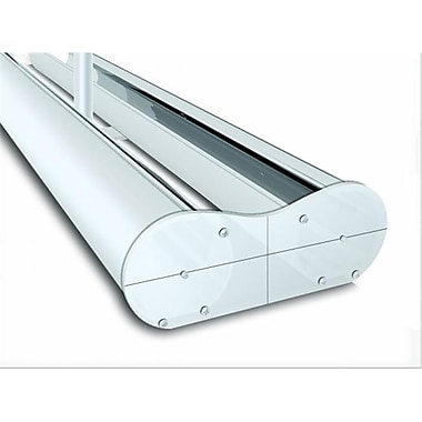 Testrite Visual Products Mercury Retractable Banner Stands 60 in. - 2 Sided Mercury Stand- Silver (TTVSP212)