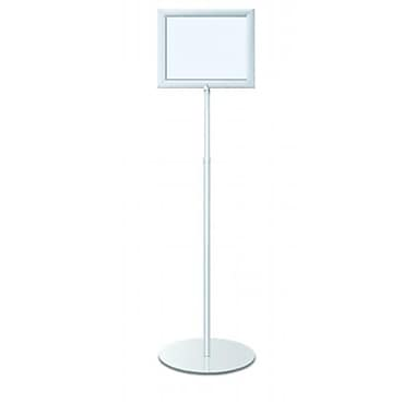 Testrite Visual Products Perfex Pedestal Frames Perfex Pedestal Frames- Silver (TTVSP222)