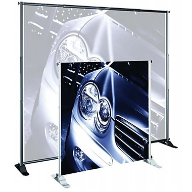 Testrite Visual Products Grand Format Banner Stands 30 in.-48 in. Jumbo Banner Stand- Silver (TTVSP112)