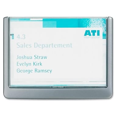 Durable Office Products Click Signs 6.75 in. x .63 in. x 5.13 in. Graphite (SPRCH31594)