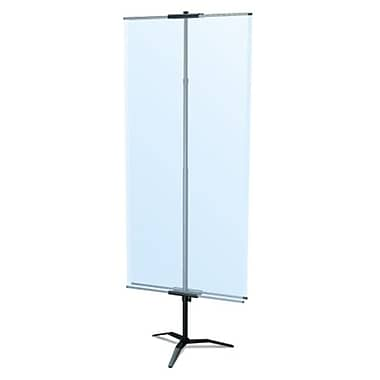 Testrite Visual Products Classic Banner Stands 36 in. Classic Banner Stand with Travel Base- Silver (TTVSP026)