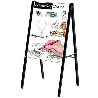 Testrite Visual Products Outdoor Sign Frames 24 in.x36 in. Black A Frame (TTVSP014)