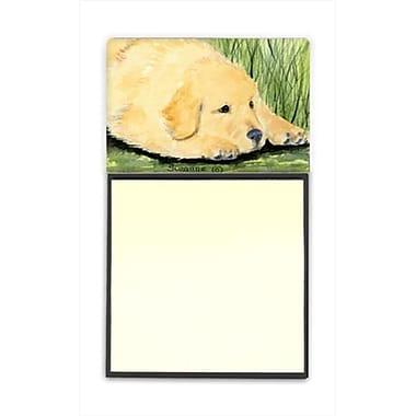 Carolines Treasures Golden Retriever Refiillable Sticky Note Holder or Postit Note Dispenser (CRlT60573)