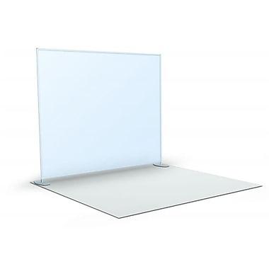 Testrite Visual Products Straight FlatWalls Straight Flat Wall- Silver (TTVSP093)