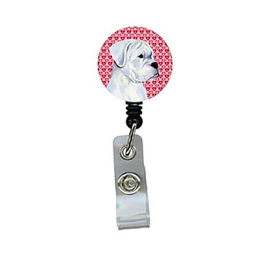 Carolines Treasures Boxer Retractable Badge Reel Or Id Holder With Clip (CRlT29822)