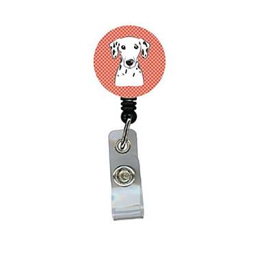 Carolines Treasures Red Checkered Dalmatian Retractable Badge Reel (CRlT61208)