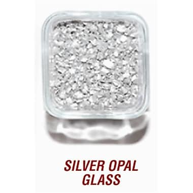 SANDTASTIK PRODUCTS INC. ICE20lBSIlVER 20 lB. BOx OF SIlVER OPAl GlASS (STTP161)