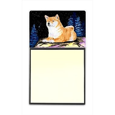 Carolines Treasures Starry Night Shiba Inu Refiillable Sticky Note Holder or Postit Note Dispenser (CRlT60475)