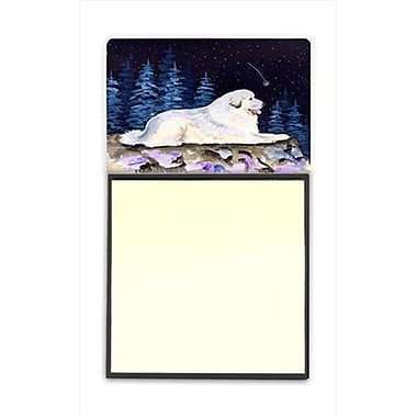 Carolines Treasures Starry Night Great Pyrenees Refiillable Sticky Note Holder or Postit Note Dispenser (CRlT60472)
