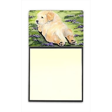 Carolines Treasures Golden Retriever Refiillable Sticky Note Holder or Postit Note Dispenser (CRlT60439)