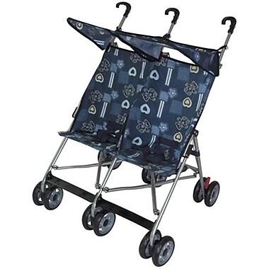 AmorosO 42702 Blue Twin Double Stroller (AMRS027)