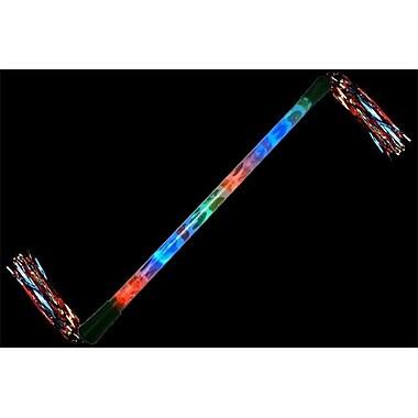 WeGlow International light Up Jungle Baton With Tinsel - Set Of 3 (WGlI014)