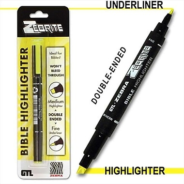 G T luscombe Highlighter Zebrite Carded Yellow (ANCRD51226)