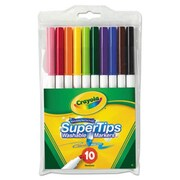 Crayola. Washable SuperTips Markers, Assorted, 10/Pk (AZERTY18427)