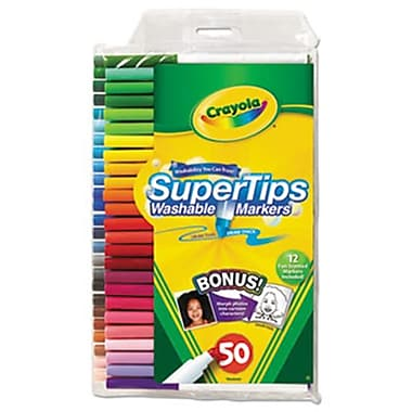 Crayola. Washable Super Tips Markers with Silly Scents, Assorted, 50/Set (AZERTY18424)