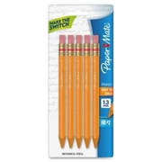 Papermate Mates Mechanical Pencils, 1.3 mm, Yellow, 5/Pk (AZERTY20842)