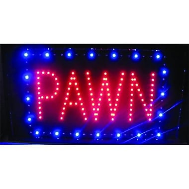Pawn lED Sign 13in x 24 in Red and Blue (RTl45815)