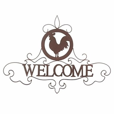 Home Decor Rooster Silhouette Welcome Sign (KHRG1838)
