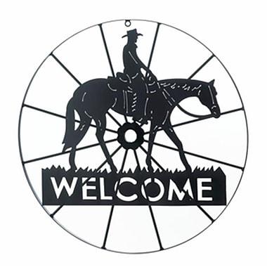 Home Decor Cowboy Wheel Welcome Sign (KHRG1994)