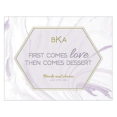 Wedding Star Geo Marble Open Format Table Sign lavender - Pack of 12 (WED9866)