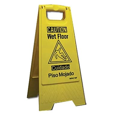 Impact Products 9152W-90 Yellow Wet Floor Sign (TRVAl22280)