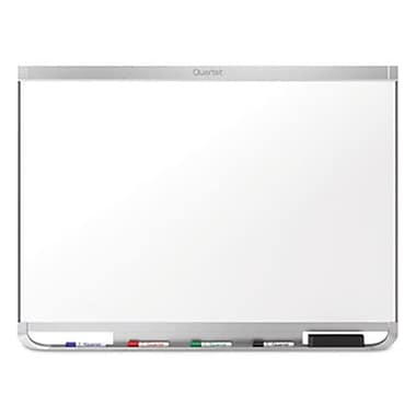 Quartet Silver Frame Prestige 2 Connects DuraMax Magnetic Porcelain Dry Erase Whiteboard, 48 x 36 in. (AZTY11601)