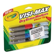 Crayola Dry Erase Marker Chisel Tip Broad - Assorted Colors (AZTY03739)
