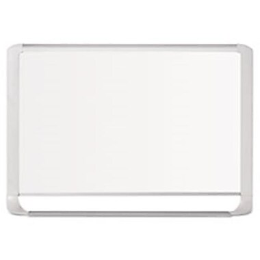 Bi-Silque Visual Communication Products lacquered Steel Magnetic Dry Erase Board, 24 x 36 in., Silver and White (AZTY02198)
