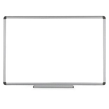 Bi-Silque Visual Communication Products Earth Ceramic Dry Erase Board, 36 x 48 in., Aluminum Frame (AZTY02171)