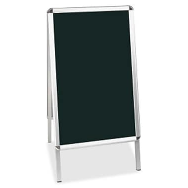 Bi-Silque Visual Communication Products Wet Erase Board, 27 x 34 in., Black, Aluminum Frame (AZTY02174)