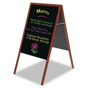 Bi-Silque Visual Communication Products Magnetic Wet Erase Board, 27 x 34 in., Black, Cherry Wood Frame (AZTY02173)