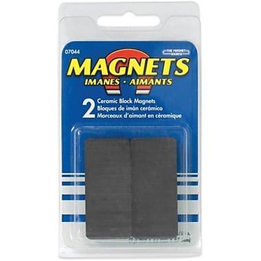 Master Magnetics Inc 2 Count .38 in. x .88 in. x 1.88 in. Ceramic Block Magnets (JNSN52805)